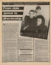 UB40 Interview/article 1982 TRANSPARENT