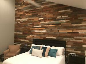 Barn Planks, Peel and Stick Wall Boards, Reclaimed Wood Boards, Barn Wood Wall