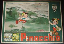 fotobusta film PINOCCHIO Walt Disney 1947 prima edizione RARA !