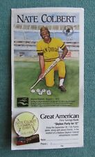 VINTAGE 1987 NATE COLBERT SAN DIEGO PADRES GREAT AMERICAN BANK LAPEL PIN W/CARD