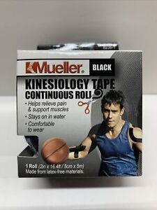 Mueller Kinesiology Tape Black 6235-1 Continuous Roll