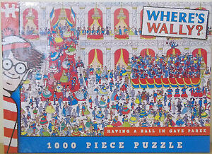 Where's Wally ~ Having A Ball In Gaye Paree ~ 1000 Piece Jigsaw Puzzle