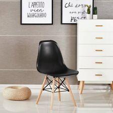 NUOVO 4x sedie da pranzo nero sedie Eiffel DSW con gambe in legno di faggio