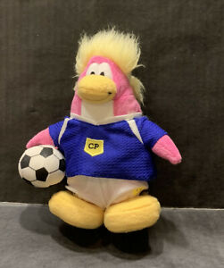 Disney Club Penguin Soccer Player Plush Stuffed Animal Toy - No Coin or Code
