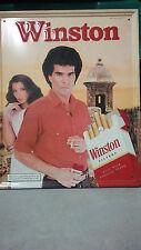 Vintage Metal RJ Reynolds Tobacco Winston Cigarette's Spanish Advertisement Sign