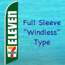 SEVEN 7 ELEVEN WINDLESS FEATHER FLAG Swooper Flutter Banner Advertising Sign