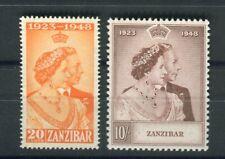 Zanzibar KGVI 1949  Royal Silver Wedding set SG333/4 MNH