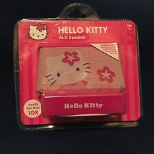 Hello Kitty Aux Speaker New Still in Vacuum Plastic Packaging Pink 10X Amplify
