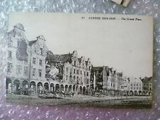 Postcard GUERRE- The Grand Place AFTER the Bombardment in World War 1 (1914-16)