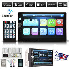 "7"" Hd Touch Screen Double 2 Din Car Stereo Player Bluetooth Radio+Camera Hot"