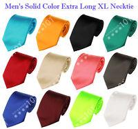 NEW! Manzini® Neckwear Men's Solid Color Extra Long XL Neck Tie! Various Colors!