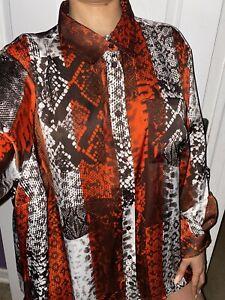 Michael Kors EUC Brown Ribbed Sequin Tank Top Shirt Plus Size Womens 1X 1