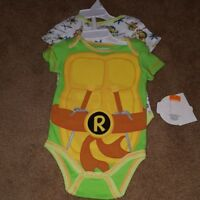 Nickelodeon TMNT 2 pack t shirts short sleeve teenage mutant Ninja turtles 9M RK
