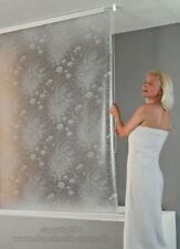 ECO-DuR Kassetten Duschrollo Seitenzug 134 cm pergamon, Seerosen weiß