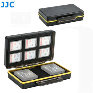 2 Camera Battery + 6 SD SDHC SDXC Card Case Holder for Fujifilm NP-W126 NP-W126S