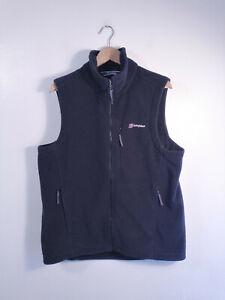 BERGHAUS | Men's Black Full Zip Front Fleece Bodywarmer Gilet Vest | L