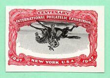 Inverted Vignette Error 1947 Old US Stamp Imperf No Gum Upside Down Pony Express