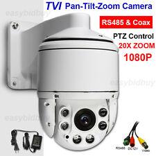 "CCTV Security 4"" MINI High Speed HD TVI 1080P PTZ Camera 20X ZOOM IP66 300ft IR"