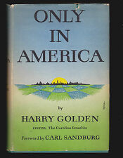 Only in America by Harry Golden (Signed by author) HC DJ