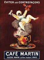 Cafe Martin, 1921 by Leonetto Cappiello Art Print Coffee Espresso Poster 11x14