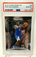 Zion Williamson 2019 Panini Prizm Rookie Card RC  Blue Jersey  PSA 10  GEM MINT