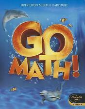 Go Math!: Houghton Mifflin Harcourt Go Math!  K (2011, Paperback)