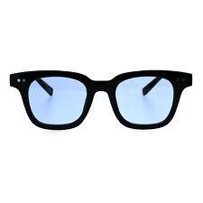 Mens Vintage Style Small Horn Rim Pop Color Lens Hippie Sunglasses