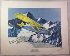 Pilot & Artist Signed Aircraft Litho Print Rockford to Stockholm Historic Flight