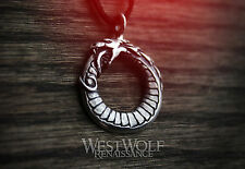 Viking Ouroboros Dragon Pendant in Sterling Silver -- Norse/Snake/Necklace