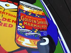 Vintage 1970s Garnier / Dodo Enamel Sign - Golden Shred Marmalade .29.8cm x 63.6