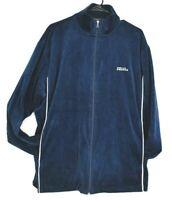 Perry Ellis America Men's XL Long Sleeve Full Zip Up Velvet Winter Jacket Blue