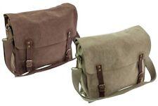 NEW Courier Highlander Fintry Canvas Satchel 10 Litre Heavy Duty Shoulder Bag