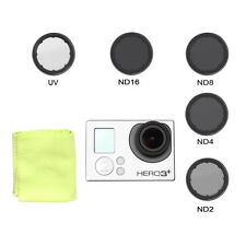 Round ND2 ND4 ND8 ND16 Filter+UV Protective Glass FPV Lens for GoPro Hero 3 3+ 4