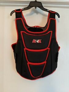 ATA Chest Protector Black Vest Karate Taekwondo Sparring Gear Large