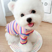 Soft Cotton Striped Dog Shirt for Pet Cat Puppy Clothes Puppy T-Shirts Sweater