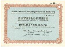 Afrika Marmor Kolonialgesellschaft Hamburg  1929