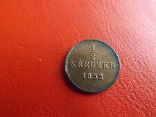* Württemberg 1/2 Kreuzer 1852 * Wilhelm I.(2)(KOM)