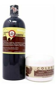 Yeguada La Reserva Shampoo & Colageno 60gr All Natural Anti Hair Loss Treatment