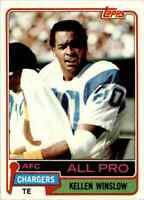 1981 Topps #150 Kellen Winslow HOF ROOKIE San Diego Chargers / Missouri Tigers
