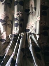 Beautiful Sanderson Lace Cap  Silk Curtains Thermal Blackout lined 2 Pair av