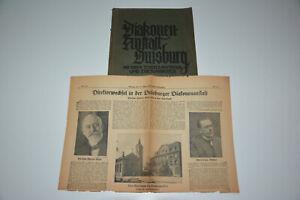 Duisburg Diakonenanstalt Zeitungsartikel 1930 mit vielen Reklame Seiten Persil