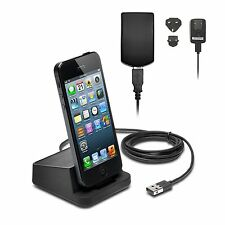Apple iPhone 5 5s 5c 6 Plus Desktop Charger Dock Stand Station USB Wall AC Plug