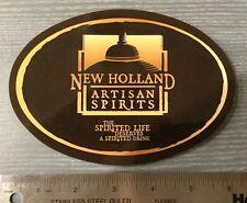 "4""x6"" New Holland Spirits Oval Artisan Spirits Sticker Craft Spirits Holland, MI"