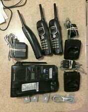 Panasonic Kx-Tg2382B 2.4Ghz Cordless Phone System with 3 Phones & pwr adapters