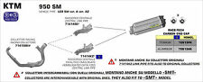 SILENCIEUX ARROW TITANE KTM 950 SM 2006/09 - 71414MI+72613PK