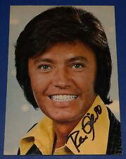 Autogrammkarte Rex Gildo - original Signatur