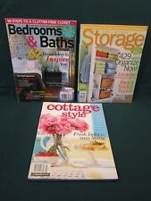 3 MAGAZINES BETTER HOMES STORAGE + BEDROOMS BATHS FALL 2011 + COTTAGE STYLE 2011