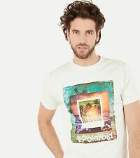 TEE-SHIRT MANCHE COURTE HOMME SPRINGFIELD - IMPRIME POLAROID--TAILLE L--NEUF