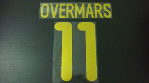 OVERMARS #11 Barcelona Home 2001-2002 Gold Color Name Set