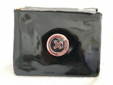 MIMCO SUPERNATURAL PATENT BLACK POUCH ROSE GOLD BADGE